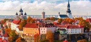 """Mystical manifestation of the Danish flag """"Dannebrog"""" @ Tallinn"""